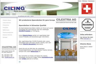 Bild Website Spanndecken-Manufaktur Schweiz www.cilextra.ch