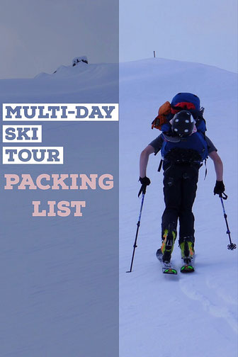 ski touring packing list
