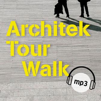 Steinfußboden mit Fußgängern als Titelbild der Rubrik ArchitekTour Walk