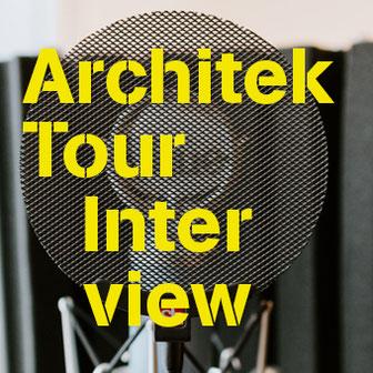 Abschnitt eines Mikrofons als Titelbild der Rubrik ArchitekTour Interview