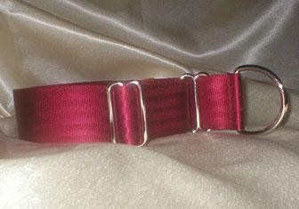 Zugstopp, Halsband, 4cm, Gurtband weinrot
