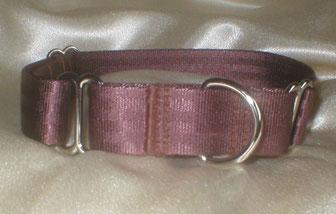 Martingale, Halsband, 2,5cm, Gurtband schokobraun