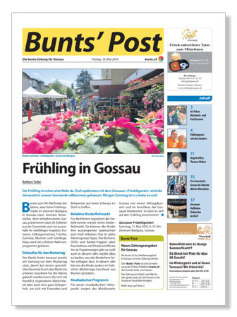"""Die erste Ausgabe der """"Bunts' Post"""""""
