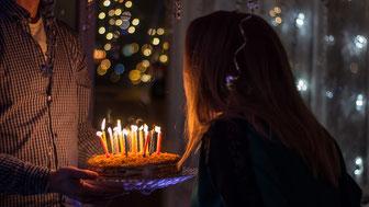 Kuchen für Geburtstagsfeier
