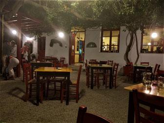 Griechenland, Kreta, Sehenswürdigkeit, Reisebericht, highlight, Urlaub, Anydri, Schulhaus, Restaurant, Ziege, Nachtisch, Rhaki, Taverne, Garten