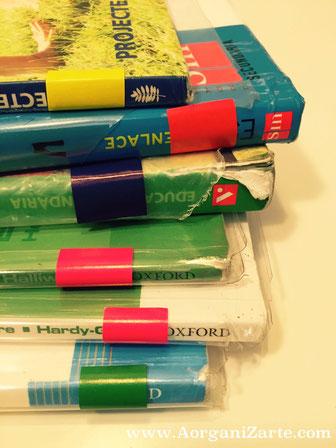 Libros de texto codificados por colores - AorganiZarte