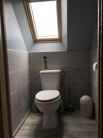 wc à l'étage avec les chambres