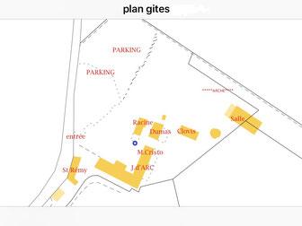 plan des gites du domaine de saint remy