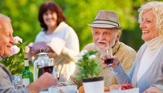 Senioren genießen Ihren Lebensabend