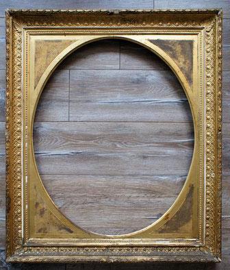 Alter Portrait Rahmen-vergoldet-mit Gipsverzierungen-alt-antik