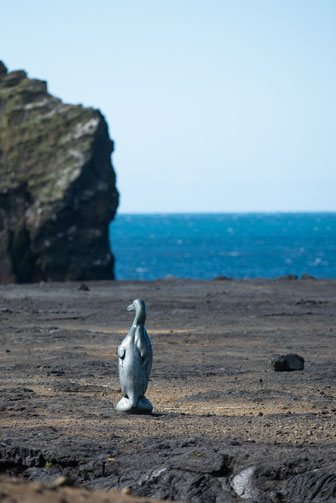 Statue Grand Pingouin