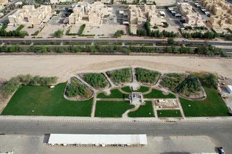 Constructed wetlands in Kuwait City...