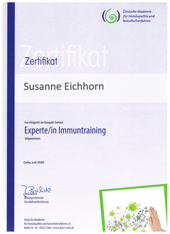 Expertin Immuntraining