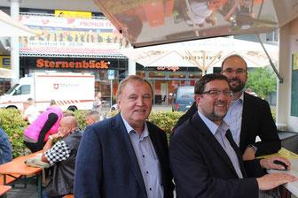 Jedes Jahr aktiv dabei (v.l.n.r.):  CDU-Stadtrat Dietmar Haßler, Andreas Lämmel MdB und Christan Piwarz MdL