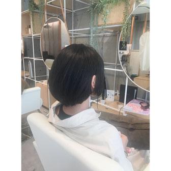 横浜 元町 石川町 美容室 ヘアサロン ショートヘア 縮毛矯正
