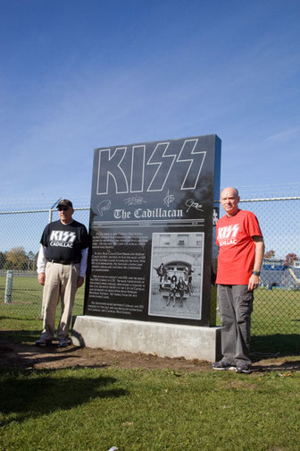 Coach Dave Brines and Coach Jim Neff at the KISS Monument.