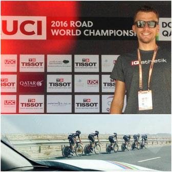 Tobias Ohlenschläger bei den UCI Weltmeisterschaften in Doha