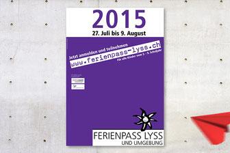 daniela dick dickesdesign aarberg ferienpass lyss 2015 plakat