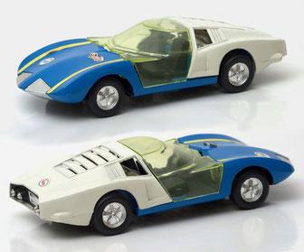Monza GT, ref. 3005, con chasis de metal y base de plástico, sin fricción