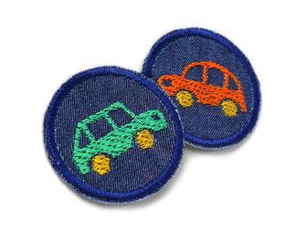 Bild: Auto Flicken zum aufbügeln, Mini Jeansflicken für Kinder, Bügelbilder Oldtimer