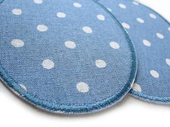 Bild: robuste Bügelflicken aus Baumwollcanvas, Hosenlöcher schnell reparieren