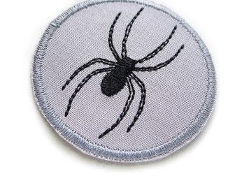 Bild: Bügelbild Spinne, Stickbild Spinne zum aufbügeln, Accessoire Spinnentier