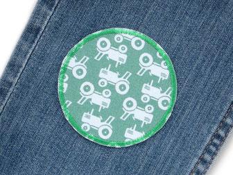 Bild: Applikation Traktor Hosenflicken für Jungen Knieflicken Bügelflicken Flicken zum aufbügeln