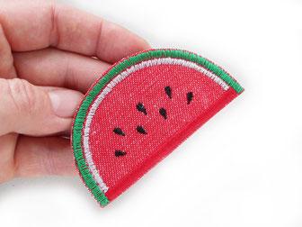 Bild: Melonen Aufbügler Patch, Melonenscheibe zum aufbügeln, Jeansflicken Aufbügelflicken als Melone