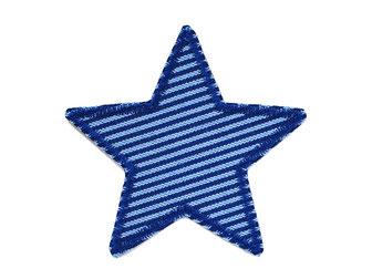 Stern Jeansflicken blau Aufnäher Flicken Knieflicken Hosenflicken Aufbügler Patch Kinder