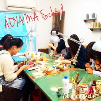 東京・横浜・大阪にあるレザークラフト(革)教室ヨコハマセリエ 東京青山教室の様子