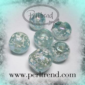 Glas Perlen Snow www.perltrend.com