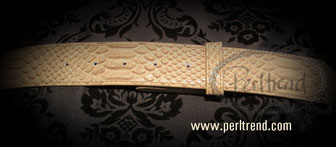 www.perltrend.com Accessoires Gürtel beige Schnalle wechselbar