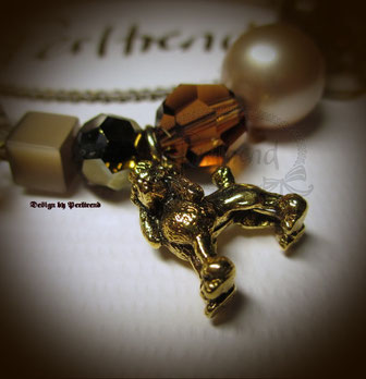 Perltrend Luzern Schweiz Onlineshop Schmuck Jewellery Jewelry www.perltrend.com Armschmuck Bracelet Armband Armkette Golden Dogs Powder Brown