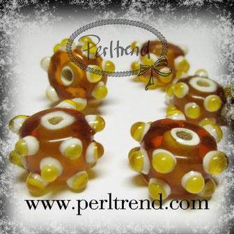 Glasrondellen Perlen Dots www.perltrend.com