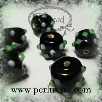 Glasröhren Perlen Dots www.perltrend.com