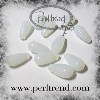 Glastropfen Perlen weiss www.perltrend.com