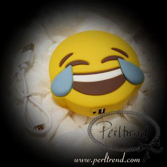 www.perltrend.com Natel Ladegeräte Emoji Tränen Lachen