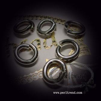 Ring offen silberfarben versilbert Schmuckverarbeitung www.perltrend.com