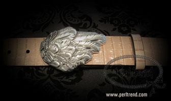 www.perltrend.com Accessoires Gürtel echt Leder Schnalle wechselbar