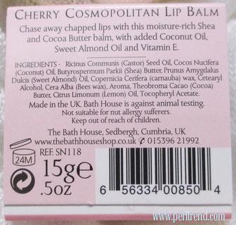 www.perltrend.com Lippenpflege Lippenpomade Lip Balms Bath House Cocktail Hour