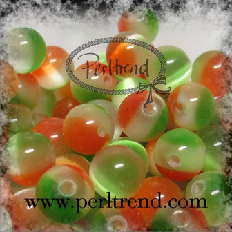 Katzenaugen-Perlen Multicolor hell
