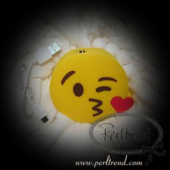 www.perltrend.com Natel Ladegeräte Emoji Kuss