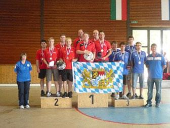 Siegerehrung Ländervergleich U23 Sommer 2011 | fcottenzell-eisstock.de