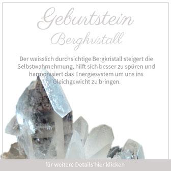 bergkristall steinbock sternzeichen bedeutung edelstein schmuck geburtstein