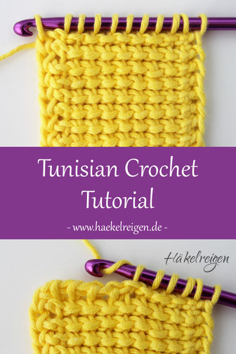 Tunisian crochet reverse stitch tutorial Haekelreigen