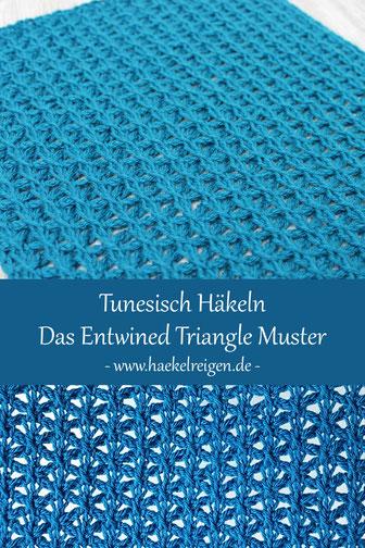 Pin Tunesisch Häkeln Entwined Triangle Muster Häkelreigen