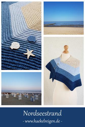 Pin Nordseestrand Crochet Shawl Pattern Haekelreigen