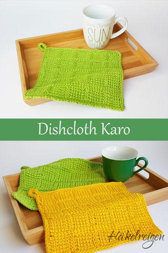 Dishcloth Karo Tunisian crochet Haekelreigen