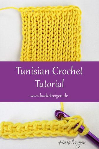 Tunisian crochet knit stitch Haekelreigen
