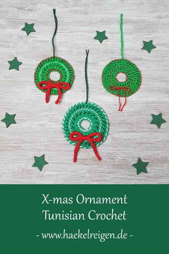 Tunisian Crochet Xmas Ornament Pattern Haekelreigen